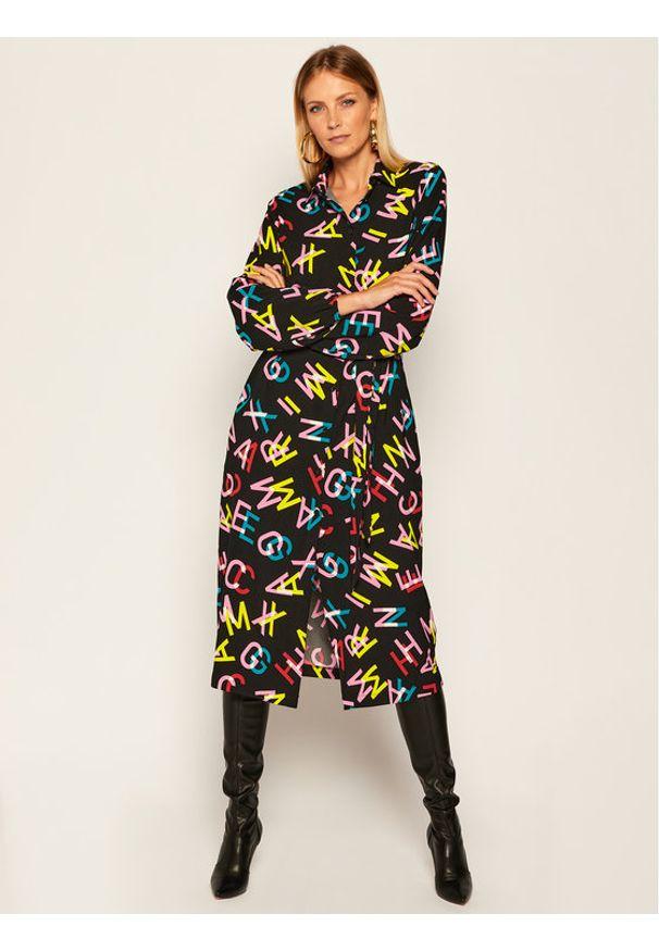 Sukienka koszulowa Armani Exchange w kolorowe wzory