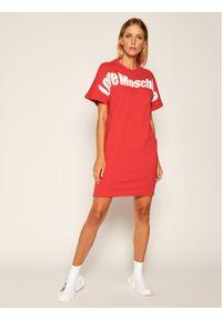Czerwona sukienka dzianinowa Love Moschino