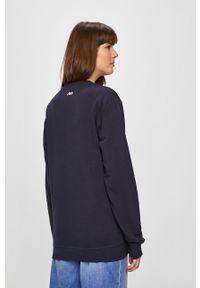 Niebieska bluza nierozpinana Fila bez kaptura, z nadrukiem
