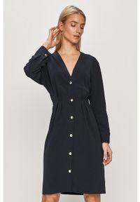 Niebieska sukienka TOMMY HILFIGER mini, na co dzień, prosta, casualowa