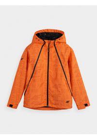 Pomarańczowa kurtka 4f na co dzień, casualowa