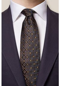 Eton - ETON - Krawat. Kolor: brązowy