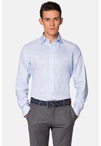 Lancerto - Koszula Błękitna w Kratę Betty. Okazja: na co dzień. Kolor: niebieski. Materiał: bawełna, tkanina, jeans. Wzór: kratka. Styl: elegancki, casual