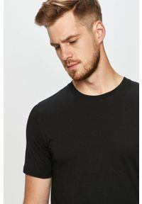 Jack & Jones - T-shirt (2-pack). Okazja: na co dzień. Kolor: czarny. Materiał: dzianina. Styl: casual