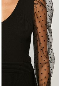 Czarna sukienka Morgan casualowa, rozkloszowana
