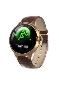 Brązowy zegarek GARETT smartwatch, sportowy