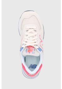 Sneakersy New Balance 574, z okrągłym noskiem, na obcasie, na niskim obcasie