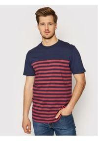 Jack&Jones PREMIUM - Jack&Jones T-Shirt Bluwilson 12187671 Granatowy Regular Fit. Kolor: niebieski