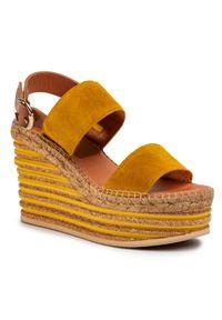 Żółte sandały Kanna na co dzień, casualowe