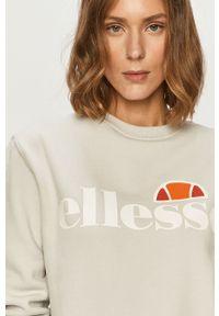 Szara bluza Ellesse z długim rękawem, długa, bez kaptura, casualowa
