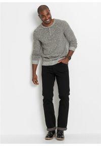 Czarne jeansy bonprix z podwyższonym stanem, klasyczne