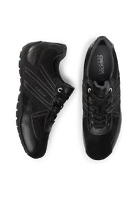Czarne sneakersy Geox na co dzień, z cholewką