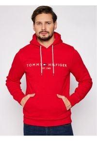 TOMMY HILFIGER - Tommy Hilfiger Bluza Logo MW0MW11599 Czerwony Regular Fit. Kolor: czerwony