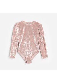Różowa bluzka z długim rękawem Reserved