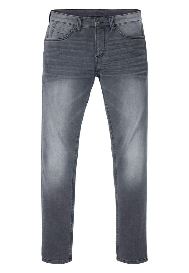 Dżinsy dresowe Skinny Fit Straight bonprix szary denim. Kolor: szary