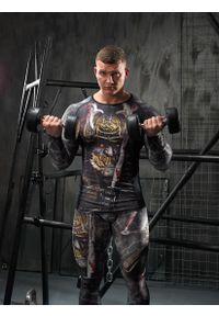 FJ! - Rashguard długi rękaw SAMURAI. Materiał: dzianina, materiał, elastan, skóra, poliester. Długość rękawa: długi rękaw. Długość: długie. Wzór: nadruk. Sport: fitness