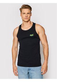 Superdry Tank top Ol NeonLite Vest M6010615A Czarny Regular Fit. Kolor: czarny