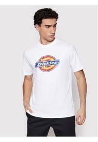 Dickies T-Shirt Icon Logo DK0A4XC9WHX1 Biały Regular Fit. Kolor: biały