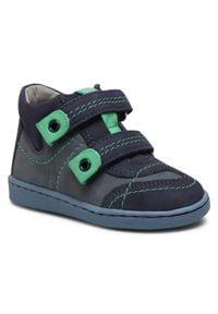 RenBut - Trzewiki RENBUT - 13-040 Jeans. Kolor: niebieski. Materiał: skóra, nubuk. Szerokość cholewki: normalna. Sezon: zima, jesień