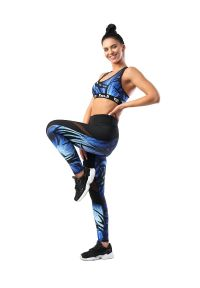 FJ! - Legginsy LIFE. Materiał: poliester, dzianina, skóra, elastan. Sport: joga i pilates, fitness, taniec
