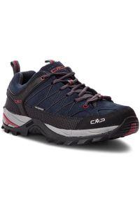 CMP Trekkingi Rigel Low Trekking Shoes Wp 3Q13247 Granatowy. Kolor: niebieski. Sport: turystyka piesza
