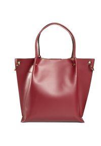 Czerwona torebka klasyczna Armani Exchange klasyczna