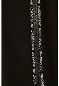 Czarny płaszcz Love Moschino casualowy, bez kaptura #7