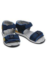 Mayoral - Sandały MAYORAL - 45311 Klein 45. Kolor: niebieski. Materiał: materiał, skóra. Sezon: lato. Styl: klasyczny