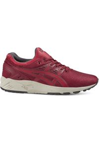 Czerwone sneakersy Asics lifestyle w kolorowe wzory, Asics Gel Kayano, z cholewką