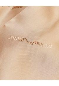 OFF-WHITE - Wełniany płaszcz w kolorze nude. Kolor: beżowy. Materiał: wełna. Wzór: aplikacja. Styl: elegancki, sportowy #7