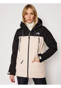 Beżowa kurtka zimowa The North Face