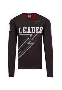Aeronautica Militare - T-shirt AERONAUTICA MILITARE. Materiał: bawełna, elastan. Długość rękawa: długi rękaw. Długość: długie. Wzór: moro, aplikacja, nadruk. Styl: sportowy, militarny