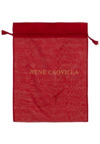 RENE CAOVILLA - Beżowe szpilki z kryształami Swarovskiego. Kolor: beżowy. Materiał: satyna. Wzór: aplikacja. Obcas: na szpilce. Styl: wizytowy #6