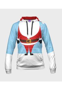 MegaKoszulki - Bluza damska fullprint z kapturem Mini Santa. Typ kołnierza: kaptur. Materiał: dresówka, dzianina