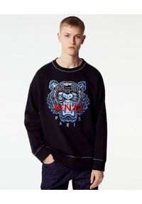 Kenzo - KENZO - Czarna bluza z tygrysem. Okazja: na co dzień. Kolor: czarny. Materiał: bawełna, dresówka, jeans. Długość rękawa: długi rękaw. Długość: długie. Wzór: aplikacja. Styl: casual