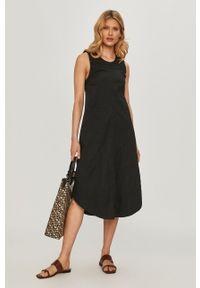 Czarna sukienka Beatrice B na co dzień, gładkie, midi