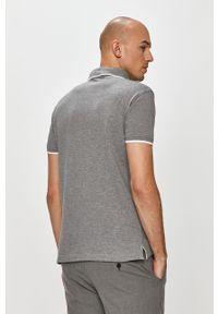 Szara koszulka polo Trussardi Jeans casualowa, krótka, na co dzień