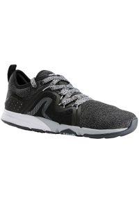 Czarne buty sportowe NEWFEEL w geometryczne wzory, trekkingowe