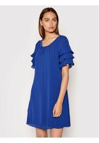 DKNY Sukienka koktajlowa DD1ED684 Niebieski Regular Fit. Kolor: niebieski. Styl: wizytowy