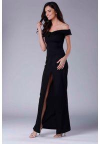 Czarna sukienka wieczorowa Nommo maxi
