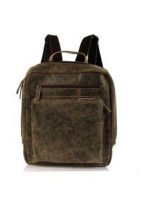 DAAG Jazzy Risk 145 plecak brązowy skórzany unisex. Kolor: brązowy. Materiał: skóra
