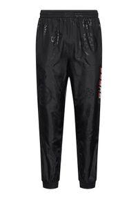 Czarne spodnie Guess z nadrukiem