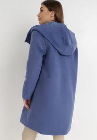 Born2be - Granatowy Płaszcz Cillon. Kolor: niebieski. Materiał: jeans, dzianina, poliester. Styl: klasyczny