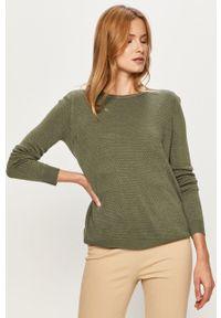 Zielony sweter Jacqueline de Yong na co dzień, casualowy, z okrągłym kołnierzem