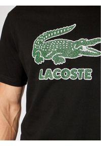 Lacoste T-Shirt TH0063 Czarny Regular Fit. Kolor: czarny