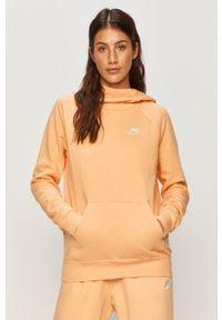 Nike Sportswear - Bluza. Typ kołnierza: kaptur. Kolor: pomarańczowy. Długość rękawa: raglanowy rękaw