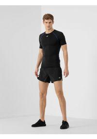 Czarne spodenki sportowe 4f na fitness i siłownię