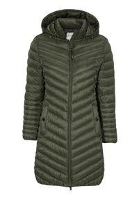 Cellbes Lekki płaszcz khaki female zielony 54/56. Kolor: zielony. Materiał: puch, polar, guma. Styl: elegancki
