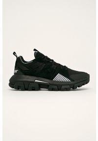 Czarne sneakersy CATerpillar z okrągłym noskiem, z cholewką