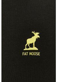 Fat Moose - T-shirt. Okazja: na co dzień. Kolor: czarny. Materiał: dzianina. Styl: casual